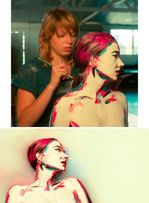 O corpo humano como uma tela