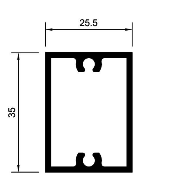 perfil de aluminio para gradil